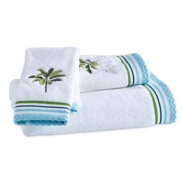 Destinations Tropical Palm Bath Towel, Hand Towel And Washcloth Set (840 MXN) ❤ liked on Polyvore featuring home, bed & bath, bath, bath towels, green, tropical palm plants, patterned bath towels, green bath towels, tropical palm trees and cotton bath towels