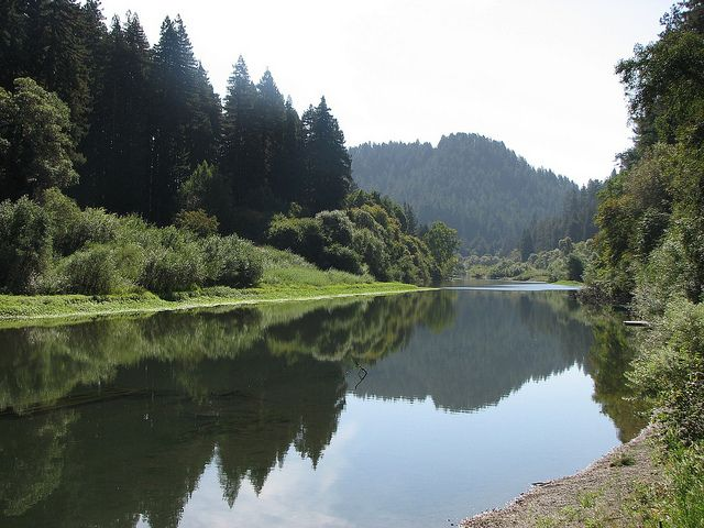 Monte Rio, CA. Do not go in late summer when the river is very low.