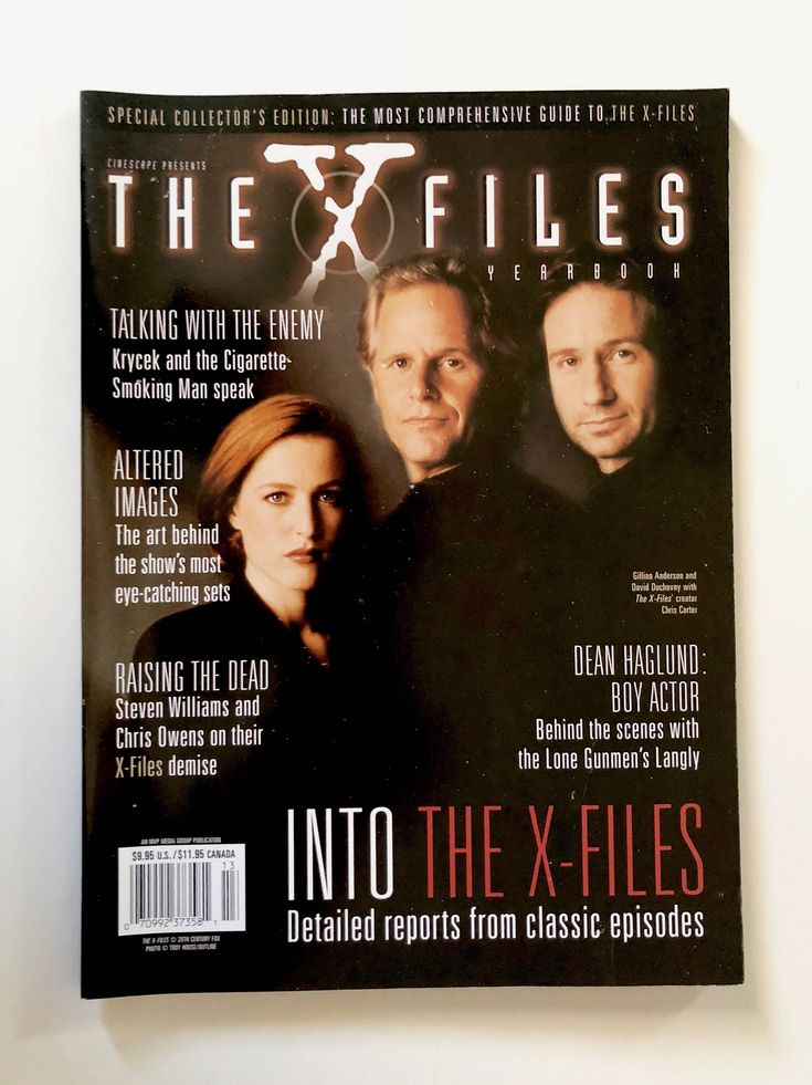 X-Files Yearbook, Collectors Edition, Cinescape, Mulder, Scully, Chris Carter, Cigarette Smoking Man, Krycek, Lone Gunmen, Behind the Scenes by BarnabyGlenVintage on Etsy