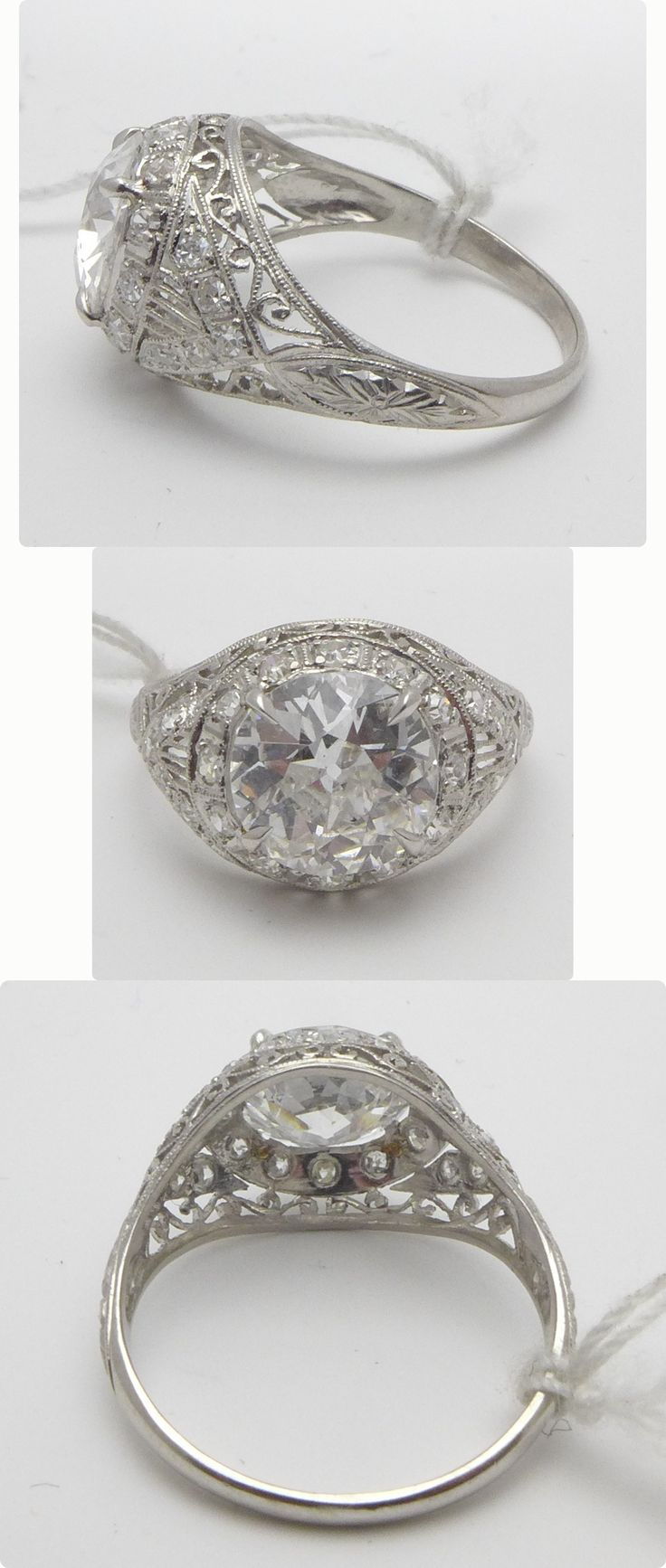 promise antique engagement filigree wedding diamond ring rings
