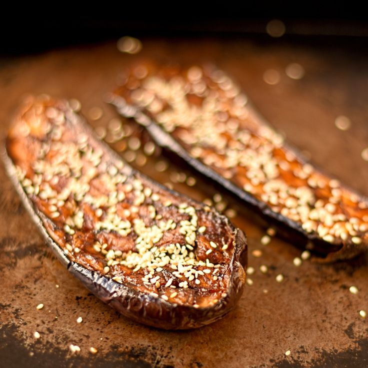 miso and sesame glazed aubergines based on a classic Japanese dish #vegan and #glutenfree
