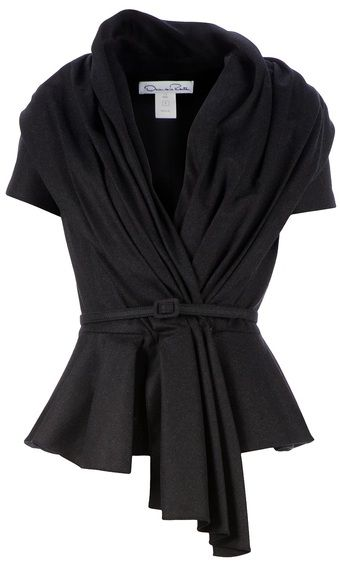 Draped Belted Blouse