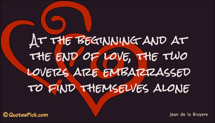 At The Beginning And At Quote by Jean De La Bruyere @ Quotespick.com
