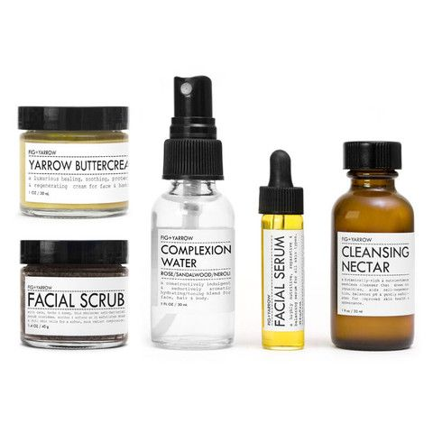 FACIAL CARE KIT is a perfect trial sampler intro to the FIG+YARROW Facial Protocol™ or for convenient air-friendly travel. {packaged in gift-ready box}Contains