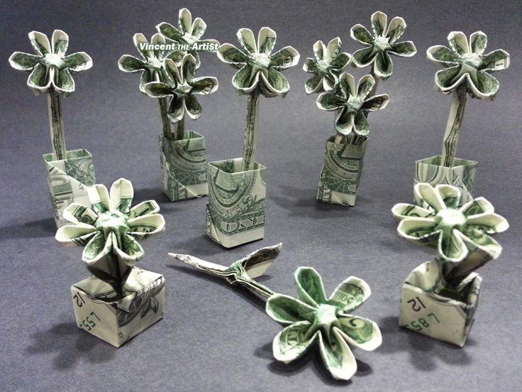 Money Origami Flowers