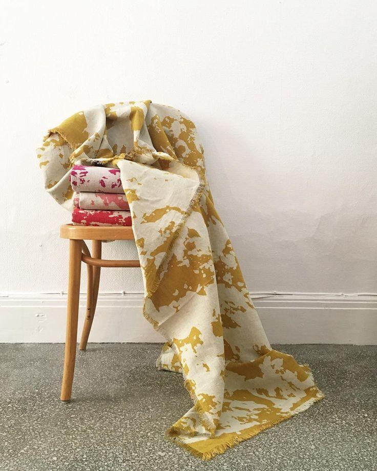 TRACES linnen throw by swedish designstudio Butler/Lindgård
