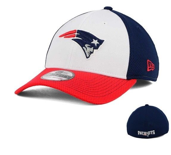 best place 100% authentic so cheap New England Patriots New Era NFL Chase White Front Mesh 39FIFTY ...