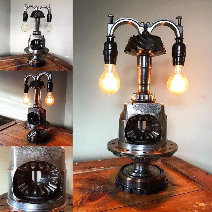 New lamp with old style Edison bulbs, just finished. Available for sale! #hotrod #hotrodart #metal #metalart #shopart #garageart #industrial #industrialart #industrialdesign #oneofakind #cool #custom #custommade  #lamp #light #lighting #customlighting #lettherebelight #illuminate #repurposed #etsy #baltimore #hotrodartomotive #mikeforesta