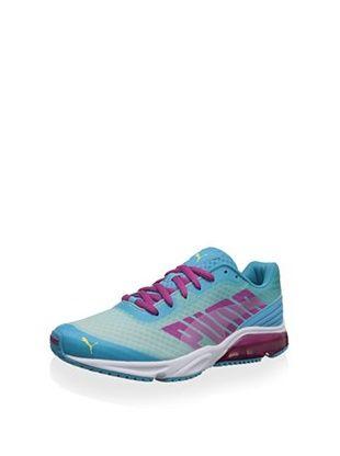42% OFF PUMA Women's Powertech Defier Fade Running Shoe (Blue Atoll/Magenta/Sunny Lime)