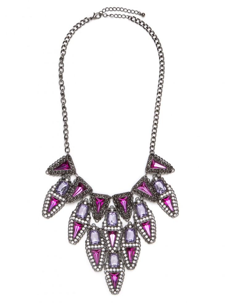 Lilac Deco Cascade Bib Necklace
