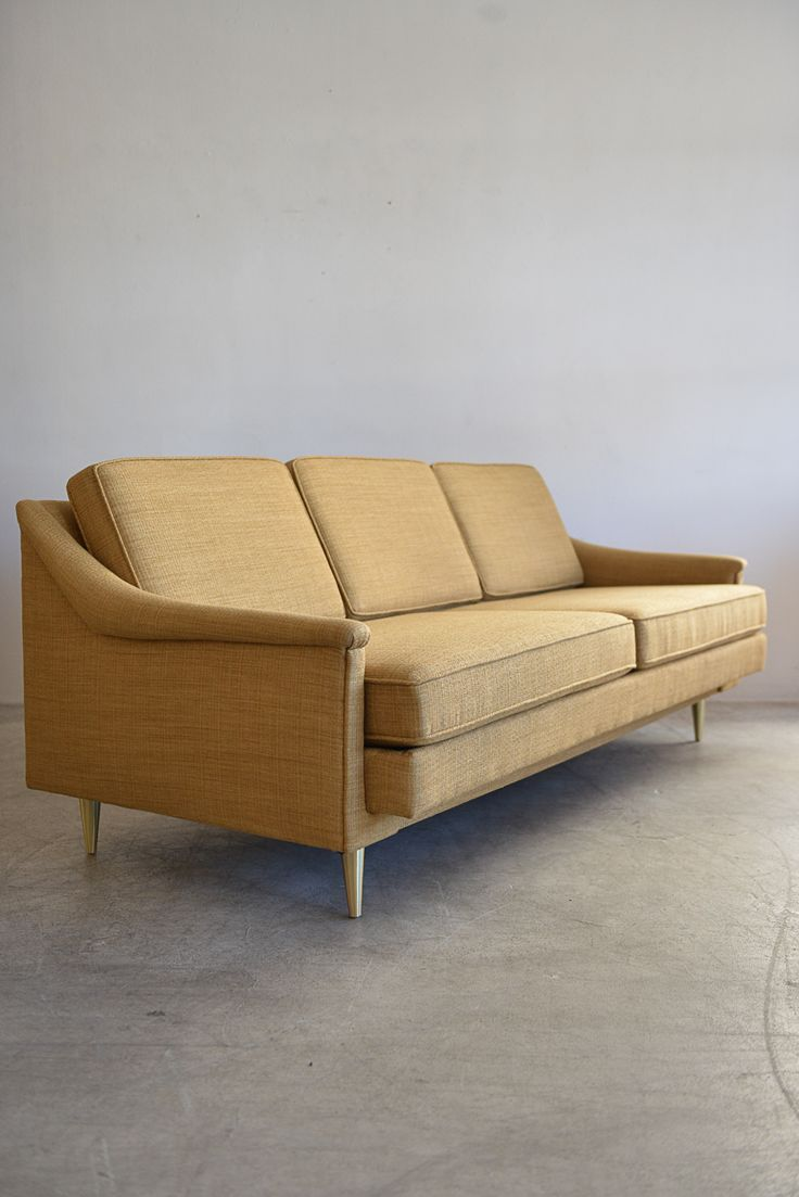 Modern Sectional Sofas Edward Wormley for Dunbar Sofa with Brass Legs Measures W x D
