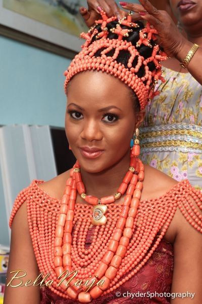 Traditional Benin wedding accessories. These is how a beautiful bride dress up for her special day. This type of wedding is called the traditional wedding. Women are not allowed to wear these beads outside except loyalties and bridals.
