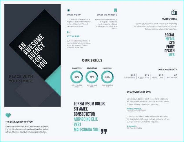 Best Awesome Brochure PSD Templates You Can Download Images On - Brochure free template download