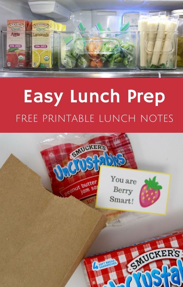 Easy Lunch Prep with Smucker's Uncrustables + FREE Printable Lunch Notes | All Things Target