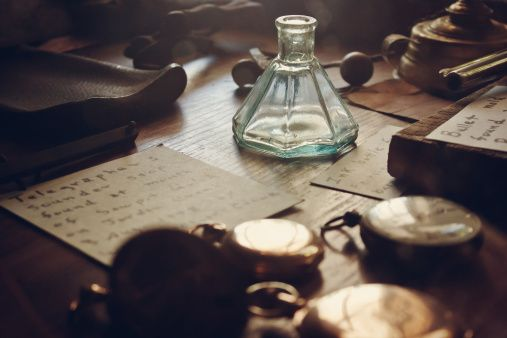 "Merlin looked down at the desk covered in pocket watches. He picked one up, clicked it open, and watched as the needle ticked the seconds away. His father's words echoed in the back of his mind, ""Time is the only thing we can't control - watch it very carefully my boy. Don't ever let it get the best of you."""