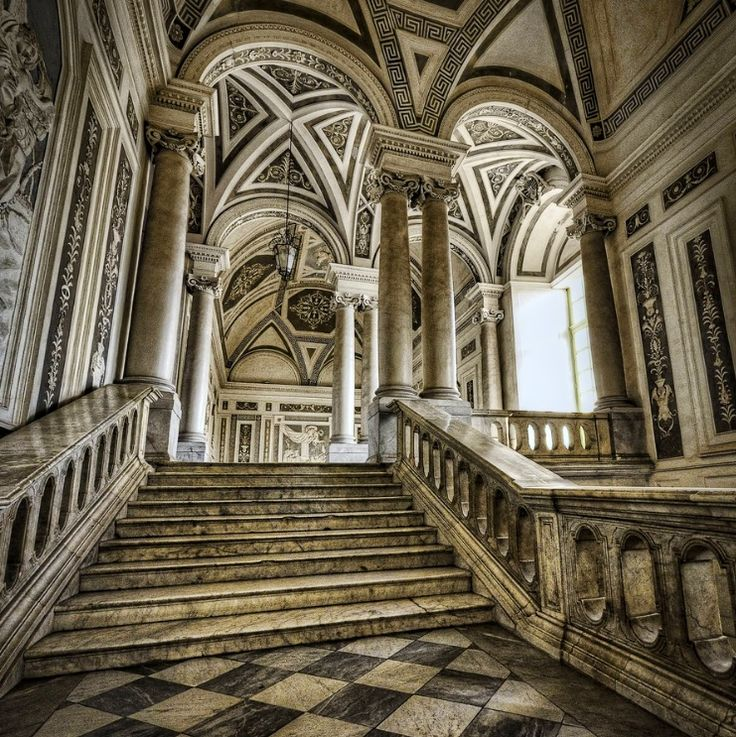 Catania, Sicily: Interior Of The Benedictine Monastery