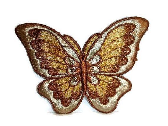 Gorgeous Butterfly Patch 1970s Embroidered by PopcornVintageByTann  #butterflypatch #butterflylover #70sbutterfly #butterflies #vintagebutterfly #vintagepatches #70spatches #newoldstock #vintagebutterflies #bohochic #bohofashion #70sfashion #1970sfashion #1970s #badges #butterflybadge #bohemian #gypsychic #hippiechic #flowerchild #1970s  #embroidery #vintagesewing #sewonpatch #popcornvintagebytann