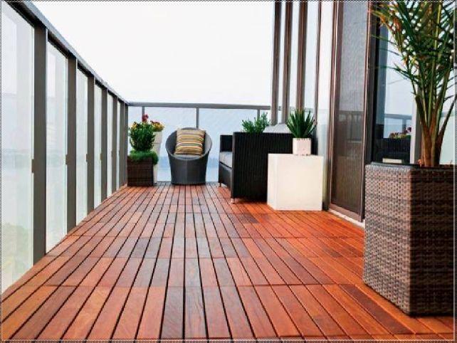 beautiful outdoor balcony flooring #4: Beautiful Treated Wood Outdoor Flooring - Available at Express Flooring  Deer Valley North Phoenix Arizona