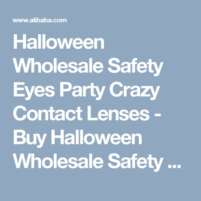 Halloween Wholesale Safety Eyes Party Crazy Contact Lenses - Buy Halloween Wholesale Safety Cotact Lens,Eyes Party Contact Lenses,Crazy Contact Lens Product on Alibaba.com