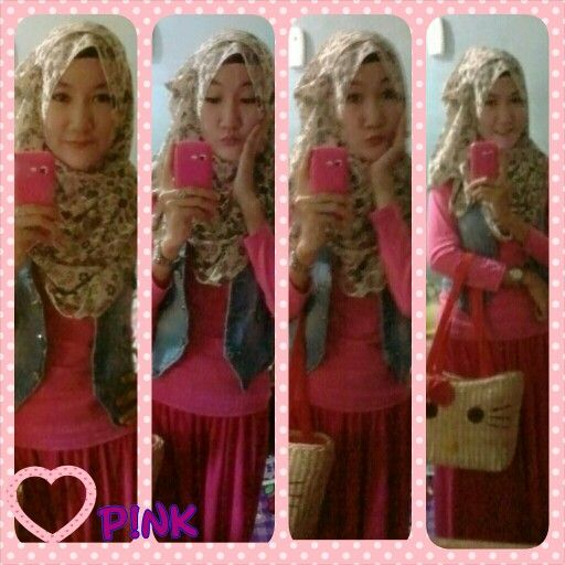 Pink...pink.... thanx to my beloved friend who gift me this cute kitty bag.... love ya...