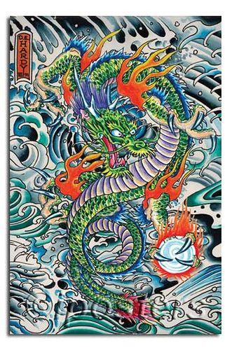 Ed Hardy Dragon Tattoo- modern interpretation of Japanese tattoos