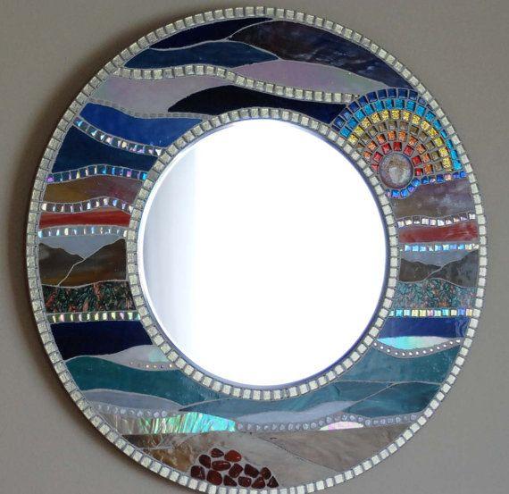 Mosaic Mirror Landscape 18 round