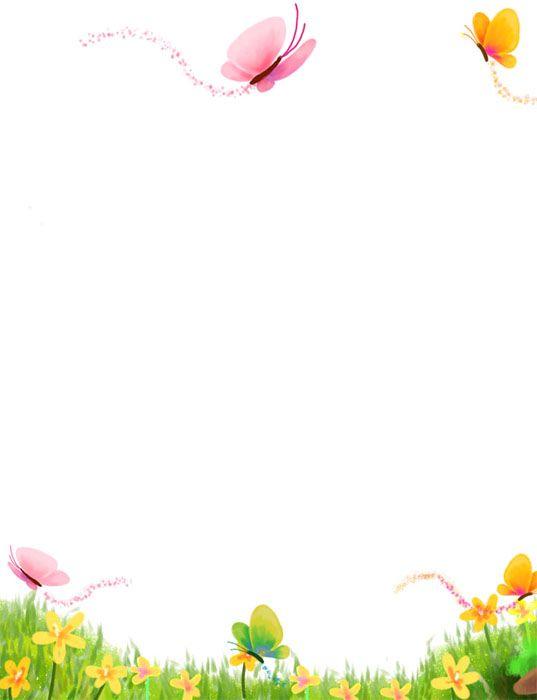 jaro, květiny, motýli
