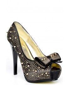 Peep Toe Heels With Spikes @ £5.99