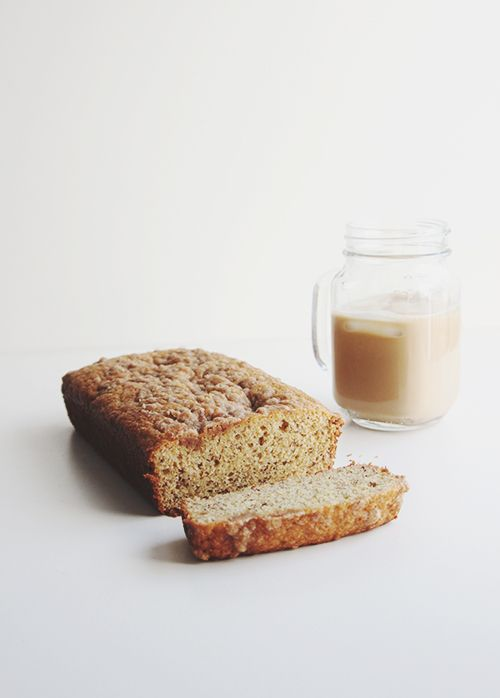 One Banana Banana Bread | The Fauxmartha--makes a shorter loaf, so easy to get the middle baked throughout!