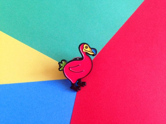 Enamel Pin Badge, Dodo Bird Pin, Soft Enamel Pin, Lapel Pin, Animal Pin, Cute Pin, Pin Game, Colorful Rainbow Pin, Fun Pin Badge Bird Brooch