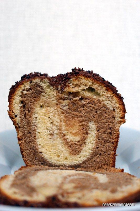 Nougat-Marmorkuchen mit Mascarpone - Schokohimmel