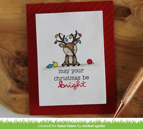 Lawn Fawn September Inspiration Week | Cheery Christmas Light up Card!