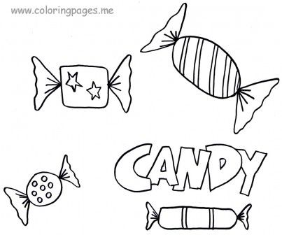 Candy Coloring Pages coloring pages Pinterest