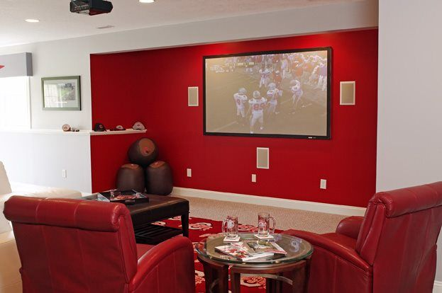 Ohio State University Themed Man Cave