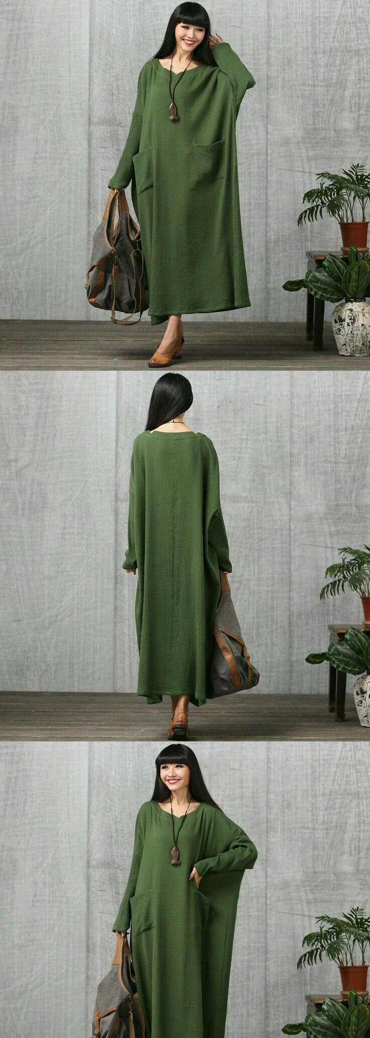 Modest, loose fitting dress