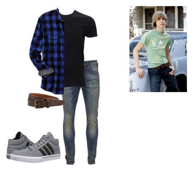 """""""cody mcclain"""" by j-j-fandoms ❤ liked on Polyvore featuring Scotch & Soda, LINLEY, Lands' End, The British Belt Company, adidas, men's fashion and menswear"""