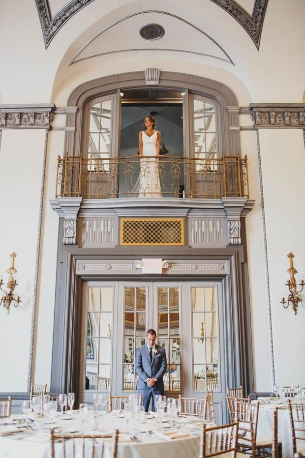 An elegantly captured moment of the bride and groom moments before the wedding. | The Carrs Photography