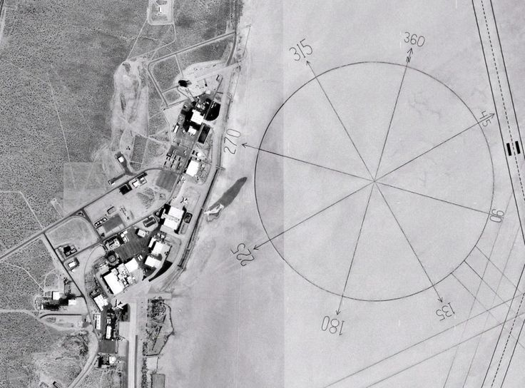 Edwards Air Force Base - largest compass rose in the world.