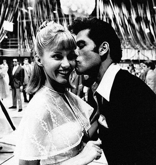 Grease..this movie is the reason i'm so obsessed with the 50s music and style, hot rods, sideburns, and, of course, John Travolta<3