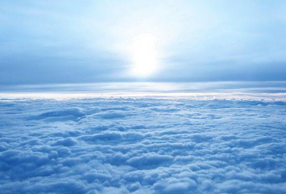 небо, солнце, облака