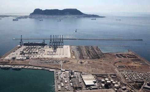 Port Algeciras Spain & the Rock of Gibraltar English side