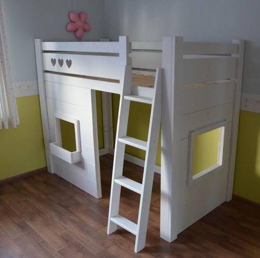 25 beste idee n over meisje hoogslapers op pinterest kinderen zolder slaapkamers tiener loft - Bed voor een klein meisje ...