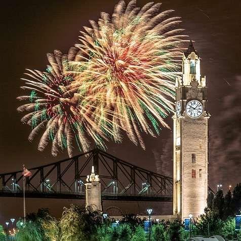 Les 5 meilleurs spots à Montréal où tu as la meilleure vue sur les feux d'artifice | Narcity Montréal