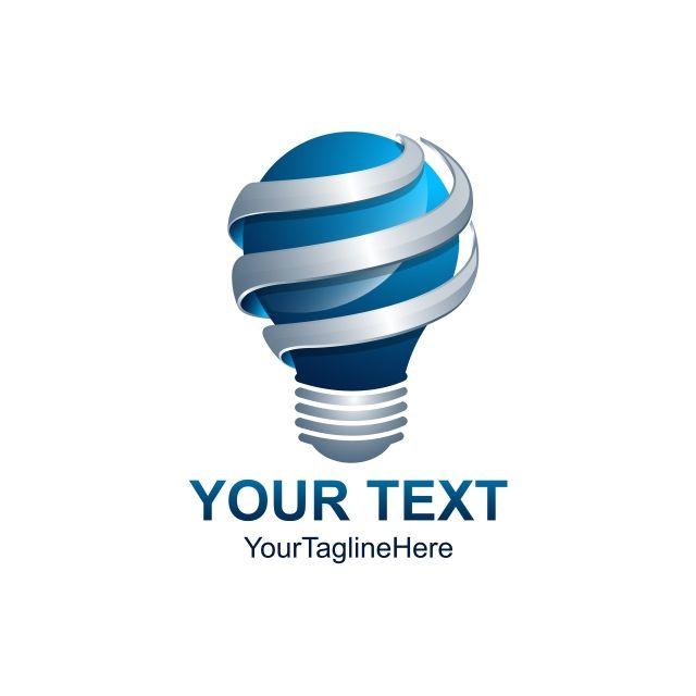 3d Idea Logo In 2020 Light Bulb Logo Lighting Logo Lamp Logo