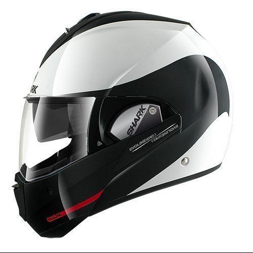 casco moto modulare bianco Shark Discovery Division Evoline Series...