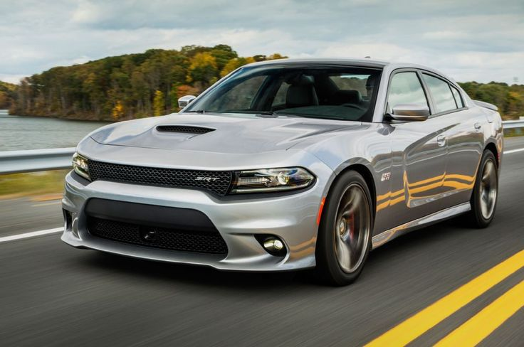 2015 Dodge Charger SRT® 392. The 6.4-liter HEMI® V8 engine produces 485 horsepower