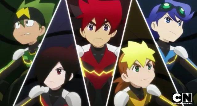 Tenkai Knights - All four knights and Gen    (Toxsa,Gen,Guren,Chooki,and Ceylan)