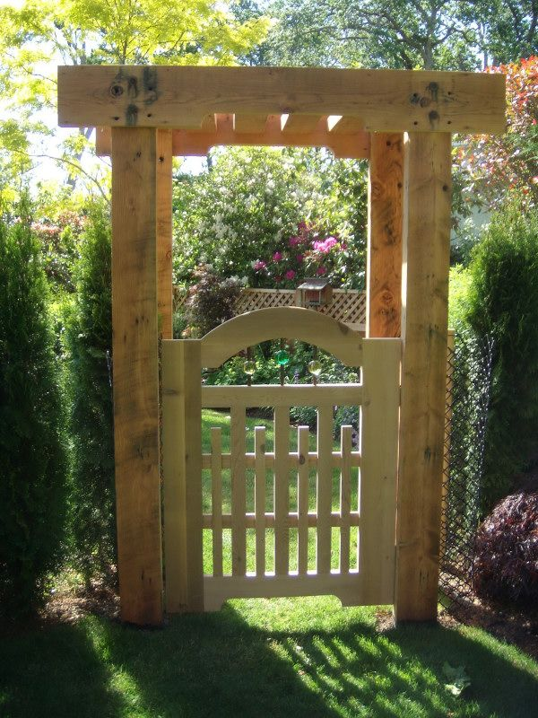 17 best images about entrance arbors on pinterest Wood garden fence designs
