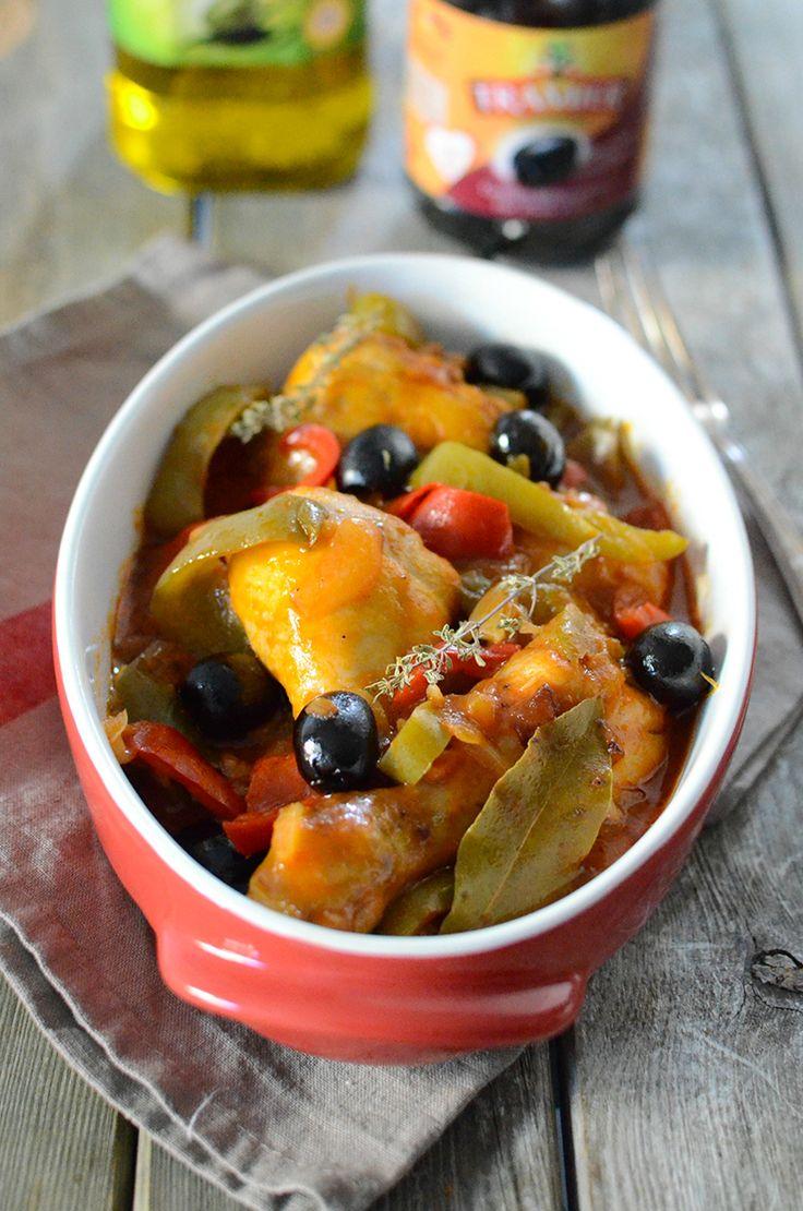 Poulet basquaise aux olives #recette #poulet