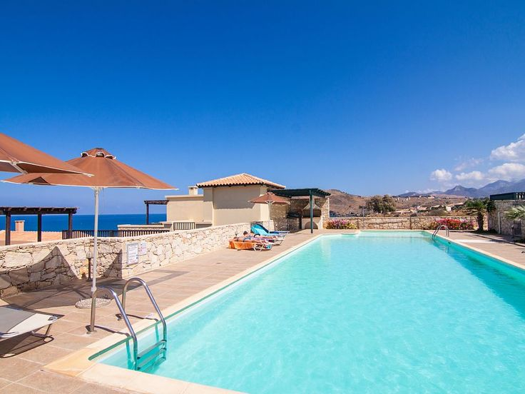 Panormos house rental - Shared, 20X7 m swimming pool.